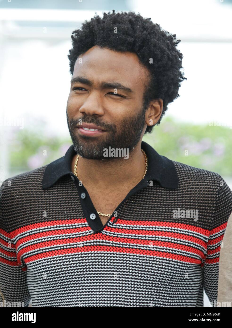Cannes, France. 15th May 2018. Donald Glover Actor Solo: A Star Wars Story, Photocall. 71 St Cannes Film Festival Cannes, France 15 May 2018 Dja1759 Credit: Allstar Picture Library/Alamy Live News - Stock Image