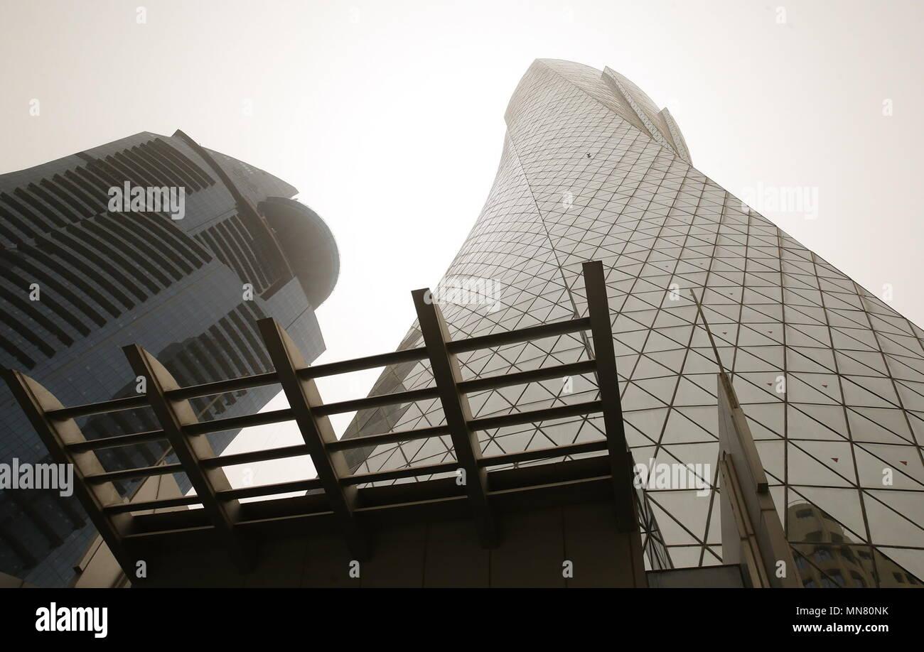 Doha, Qatar. 13th May, 2018. DOHA, QATAR - MAY 13, 2018: A view of the Headquarters of the Qatar 2022 Local Organising Committee (LOC). Mikhail Aleksandrov/TASS Credit: ITAR-TASS News Agency/Alamy Live News Stock Photo