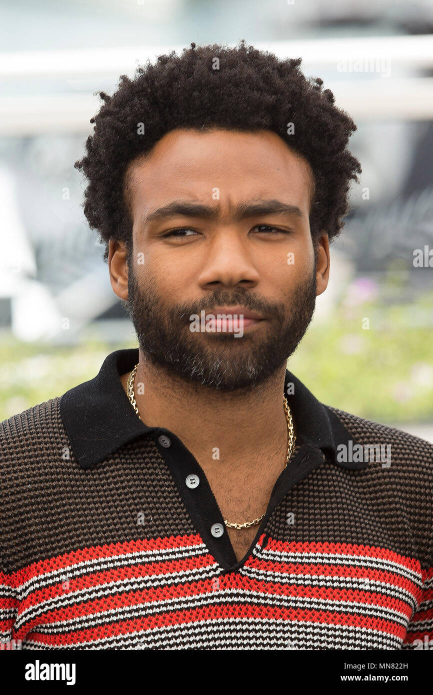 Cannes, France. 15th May 2018. Donald Glover at the 'Solo: A Star Wars Story' photocall during the 71st Cannes Film Festival at the Palais des Festivals on May 15, 2018 in Cannes, France. Credit: John Rasimus/Media Punch ***FRANCE, SWEDEN, NORWAY, DENARK, FINLAND, USA, CZECH REPUBLIC, SOUTH AMERICA ONLY*** Credit: MediaPunch Inc/Alamy Live News - Stock Image