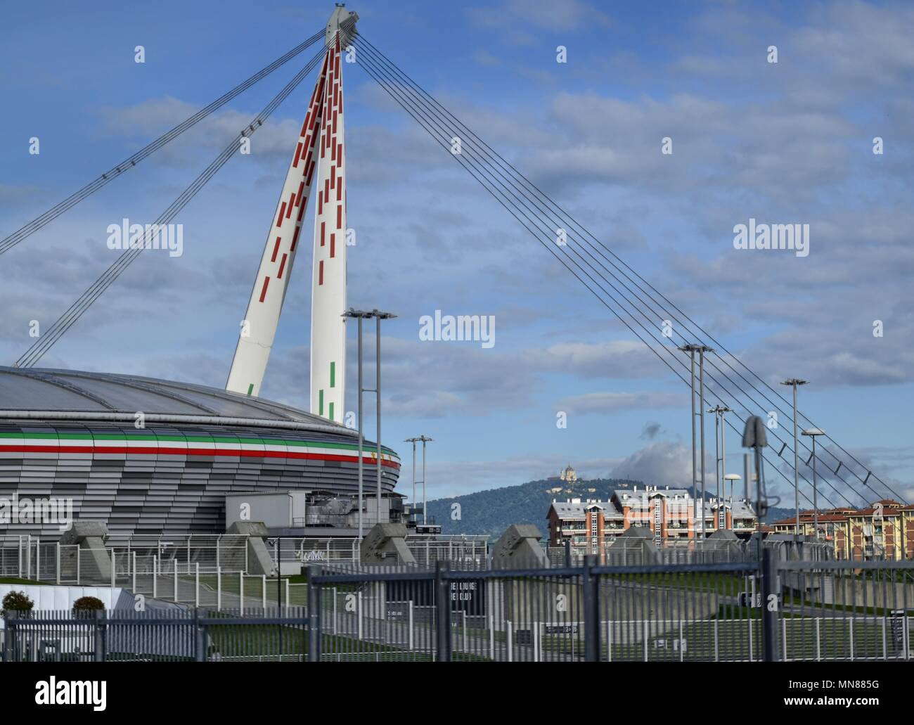allianz stadium new name of the old juventus stadium the basilica of superga peeps out among the tensostructures stock photo alamy https www alamy com allianz stadium new name of the old juventus stadium the basilica of superga peeps out among the tensostructures image185193500 html