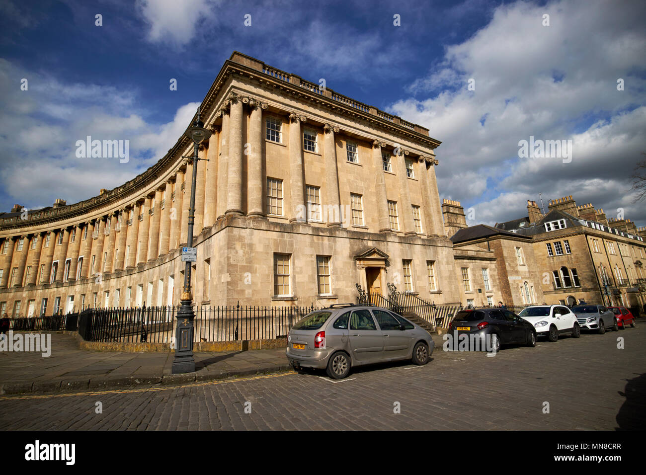 number 1 Royal Crescent bath preservation trust headquarters and museum residential road georgian houses Bath England UK - Stock Image