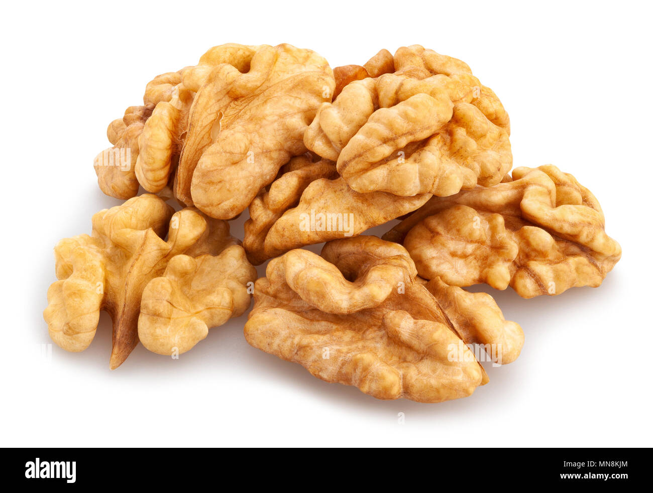 walnuts path isolated - Stock Image