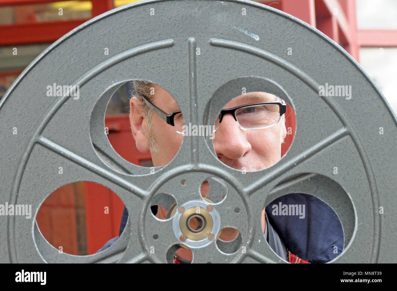 Mark Kermode film critic at the Shetland Screenplay held in Shetland - Stock Image
