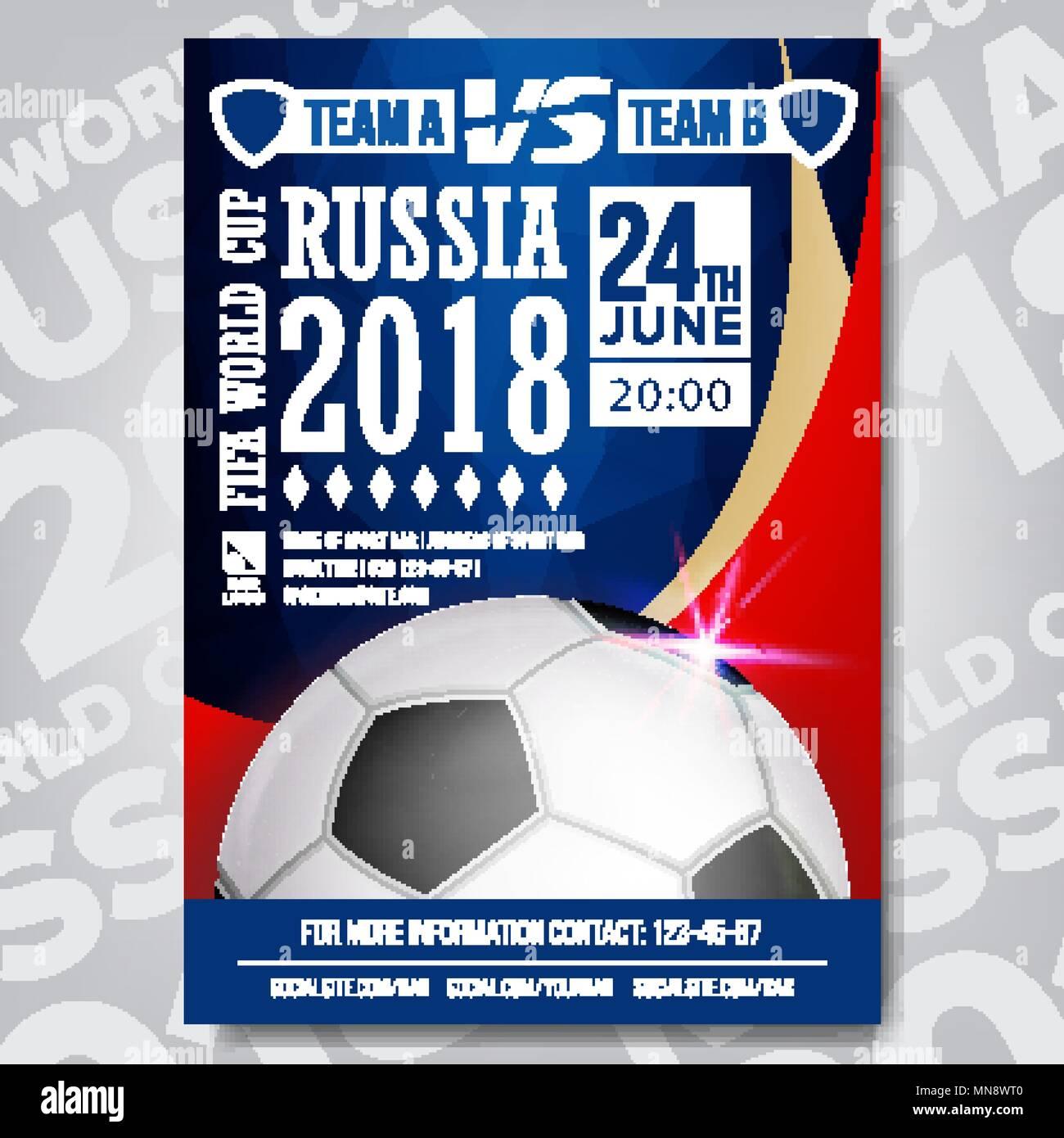Soccer League Sports Event Flyer Stock Photos Soccer League Sports