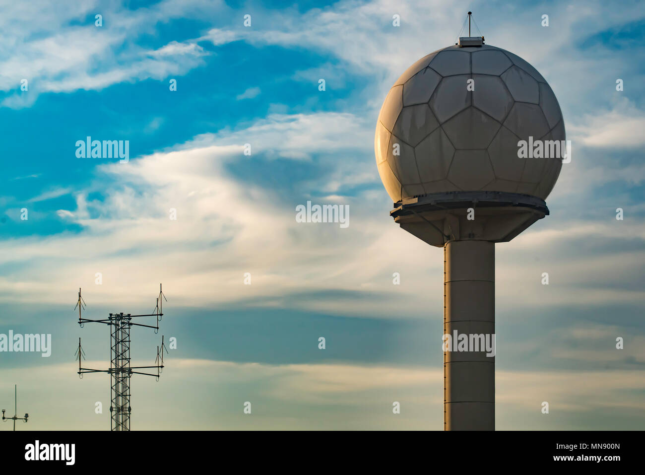 The Doppler or weather radar at Sydney Airport in Australia Stock Photo
