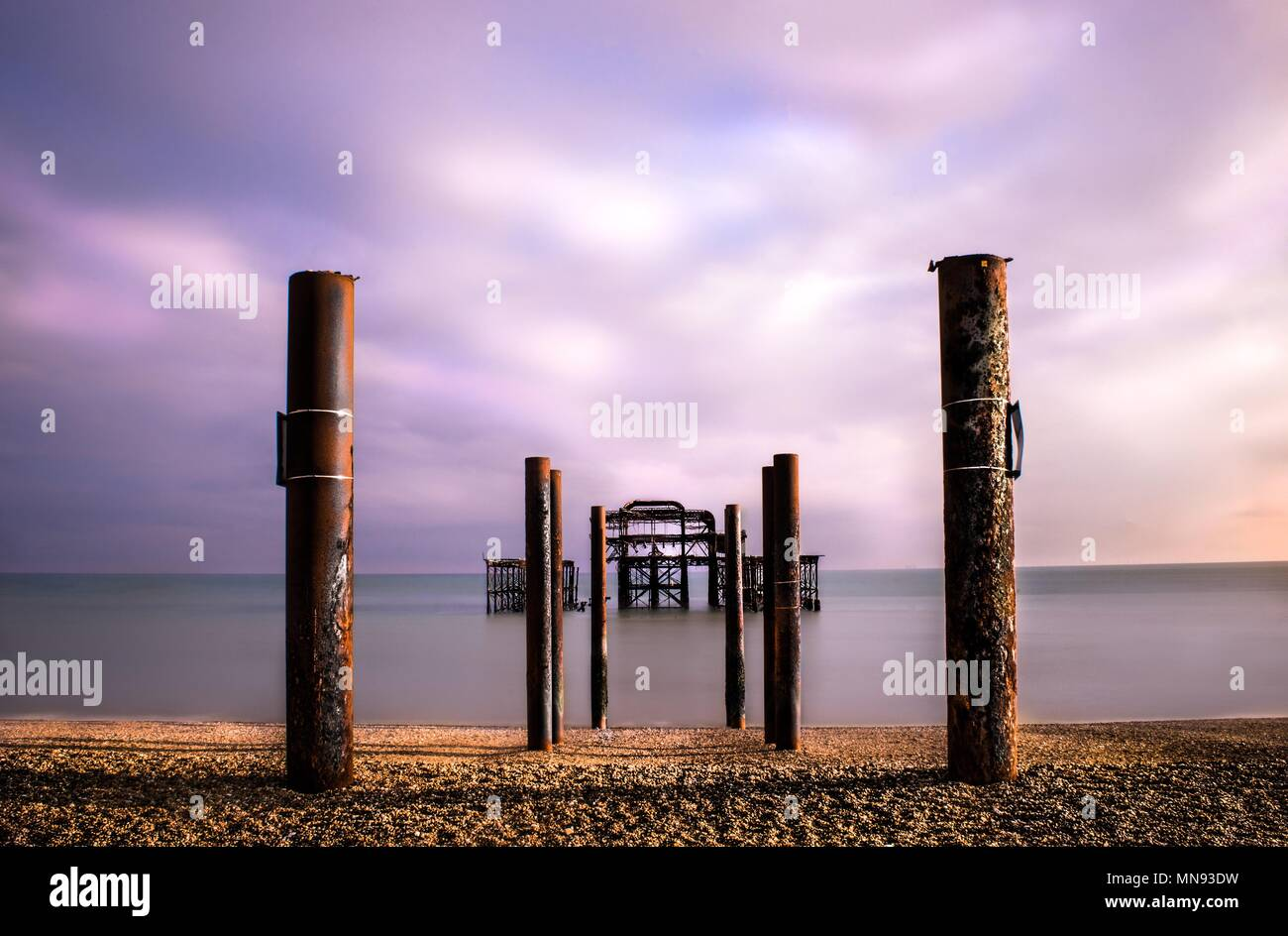 West Pier Brighton - Stock Image