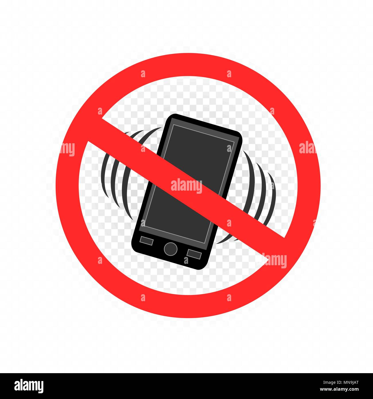 no gadget smartphone sign icon - Stock Image