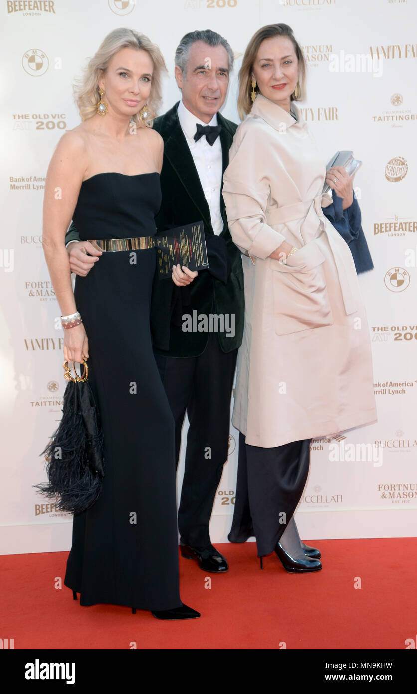Photo Must Be Credited ©Alpha Press 078237 13/05/2018 Princess Corinna zu Sayn Wittgenstein of Germany, guest and Maria Cristina Buccellati at The Old Vic Bicentenary Ball held at The Old Vic Theatre in London - Stock Image