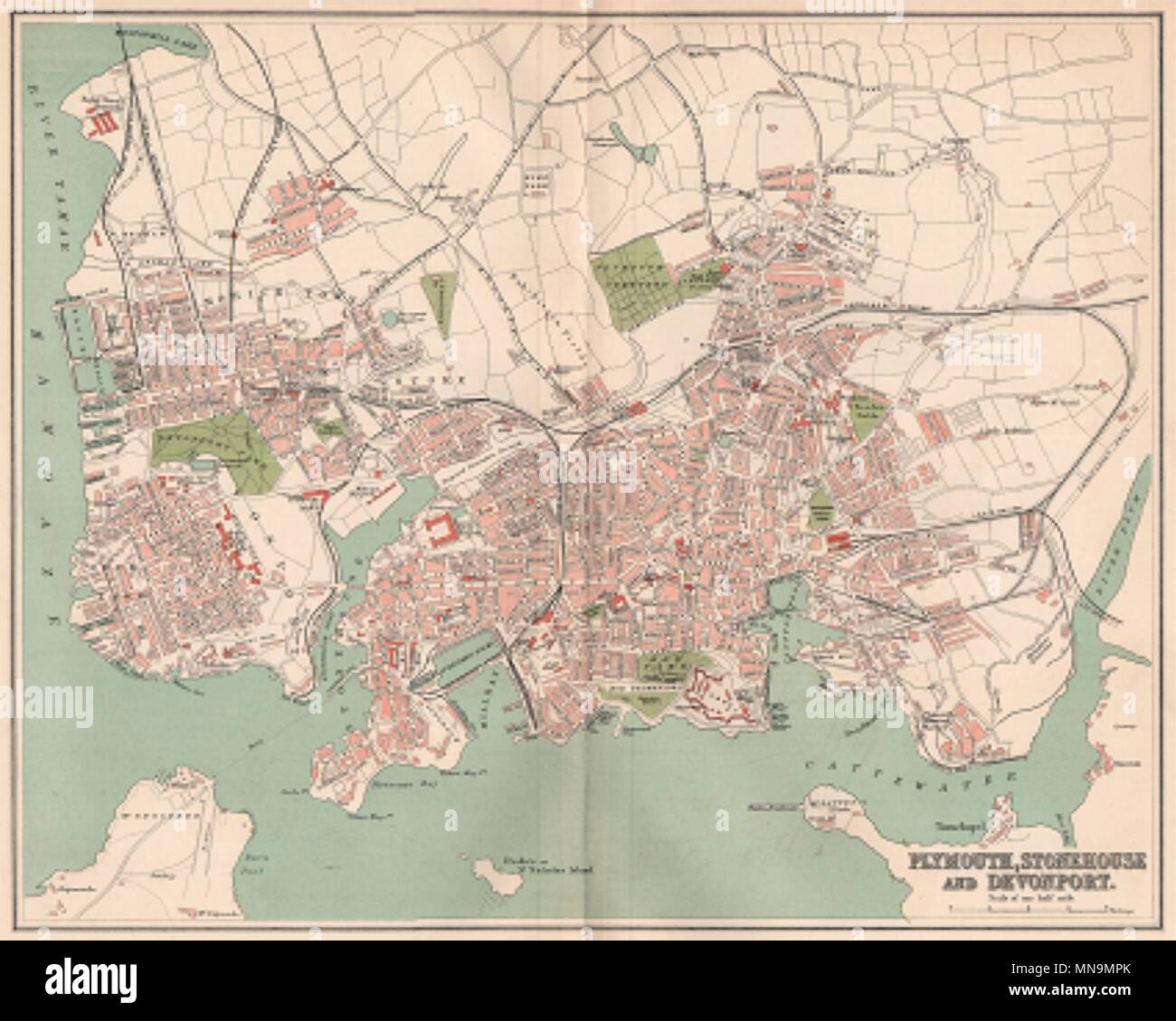 Bradford Antique Town/city Map Plan Yorkshire 1893 Old Chart
