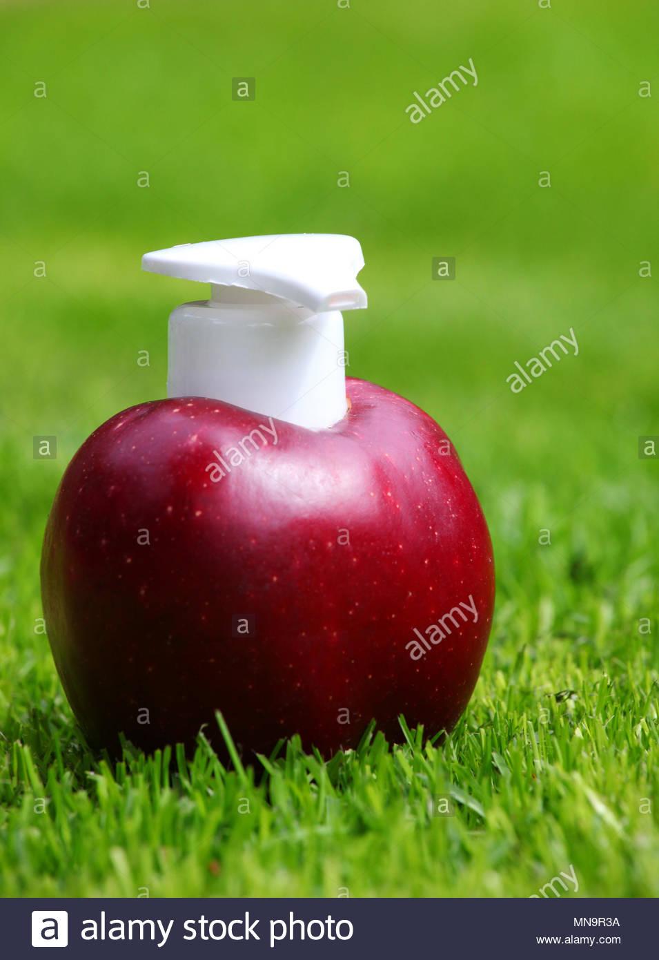 Fresh Red Apple Dispenser - Stock Image