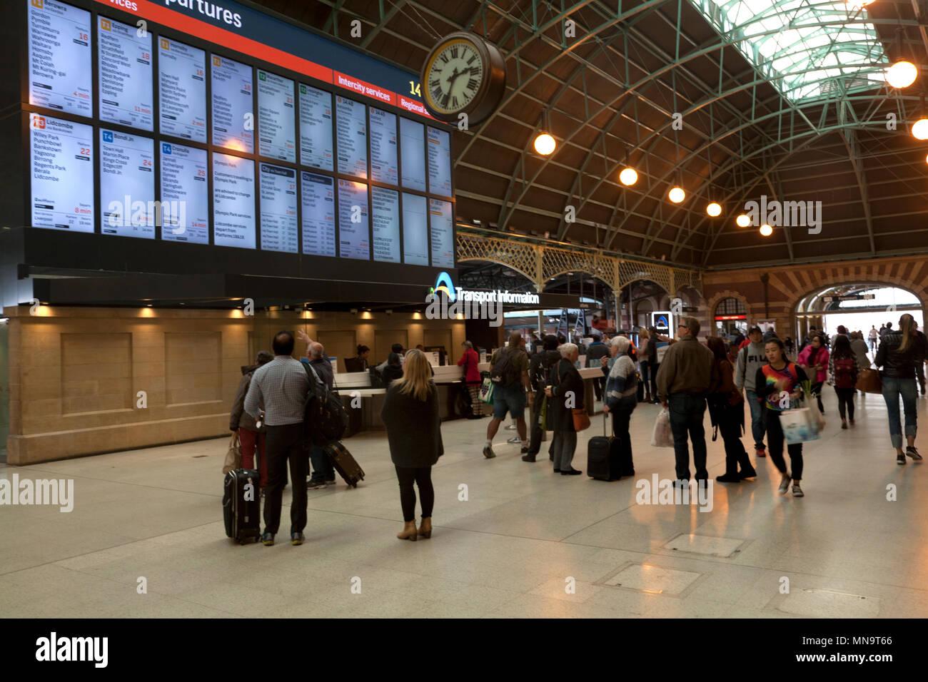 concourse central railway station eddy avenue haymarket sydney new south wales australia - Stock Image