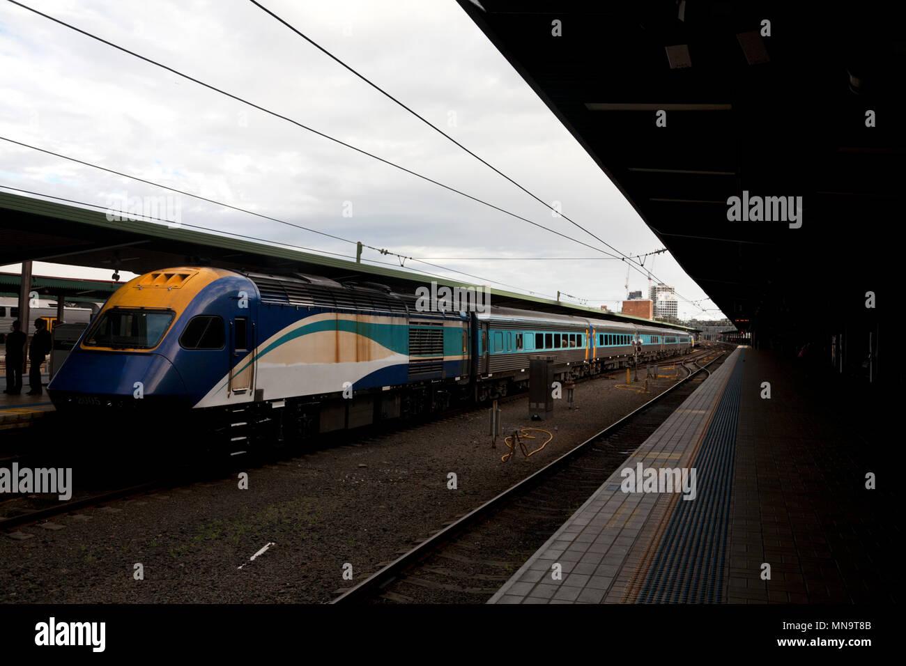 platform 2 central railway station  haymarket sydney new south wales australia - Stock Image