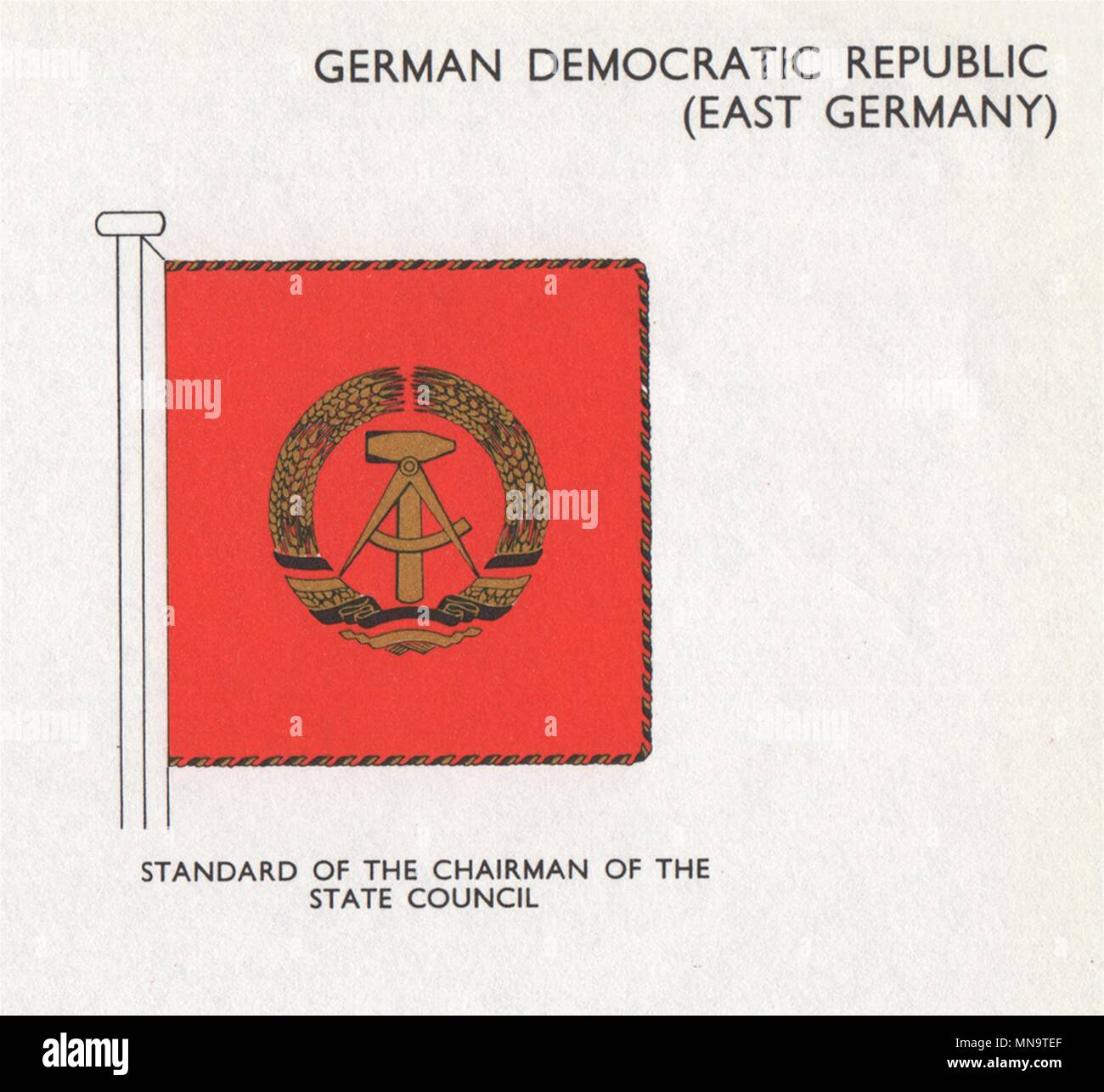 GDR (EAST GERMANY) FLAGS  Standard of the Chairman of the