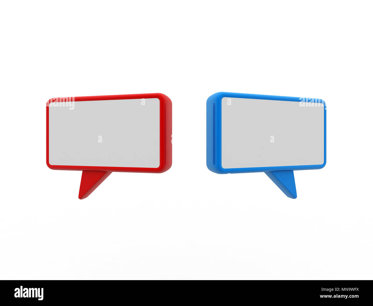 Speech bubble isolated on white. 3D rendering image - Stock Image