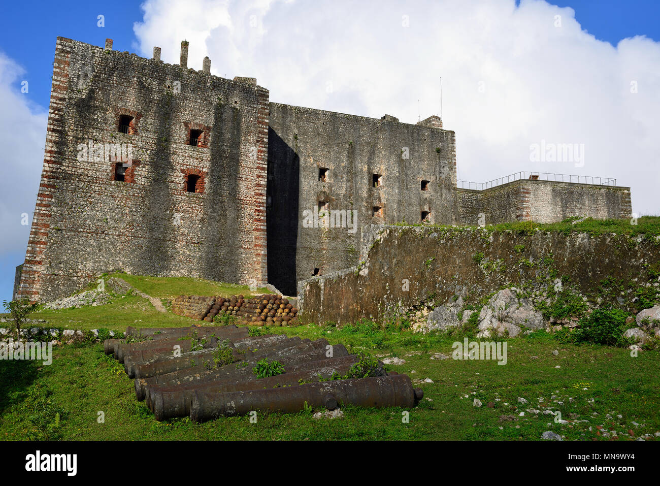 Remains of the French Citadelle la ferriere built on the top of a ...