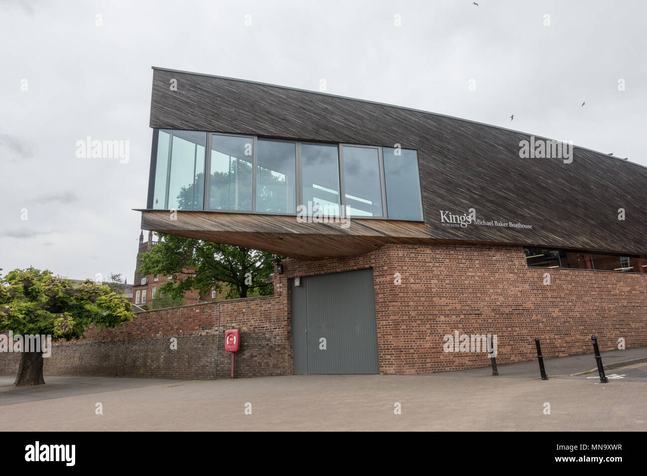 King's school in worcester boat house - Stock Image