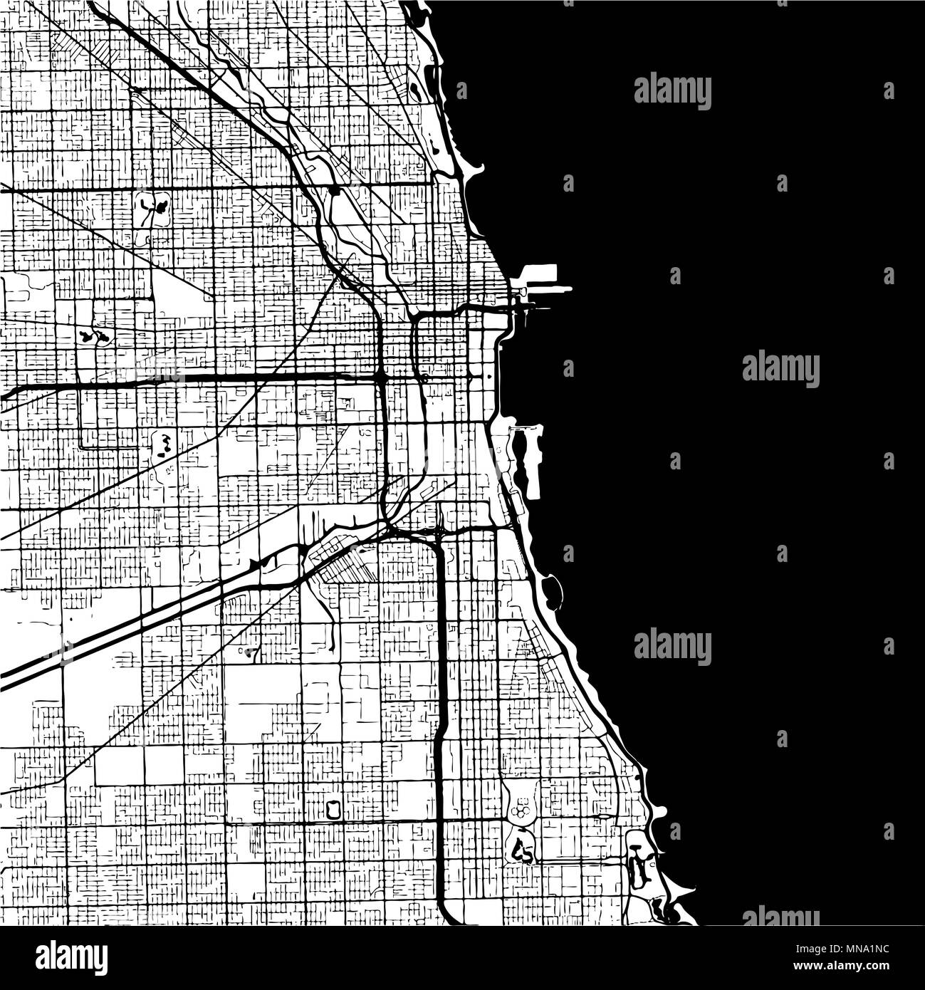 Chicago Vector Map Stock Photos Chicago Vector Map Stock Images