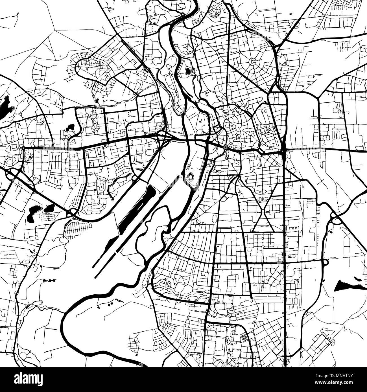 Halle Saale Karte.Halle Saale Germany Monochrome Map Artprint Vector