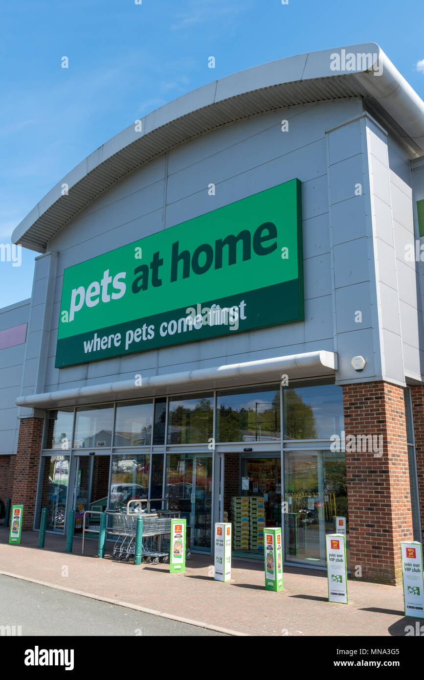the high street pet food and accessories retailer pets at home. a superstore for animals, dogs, cats and reptiles. high street or retail park supplier - Stock Image