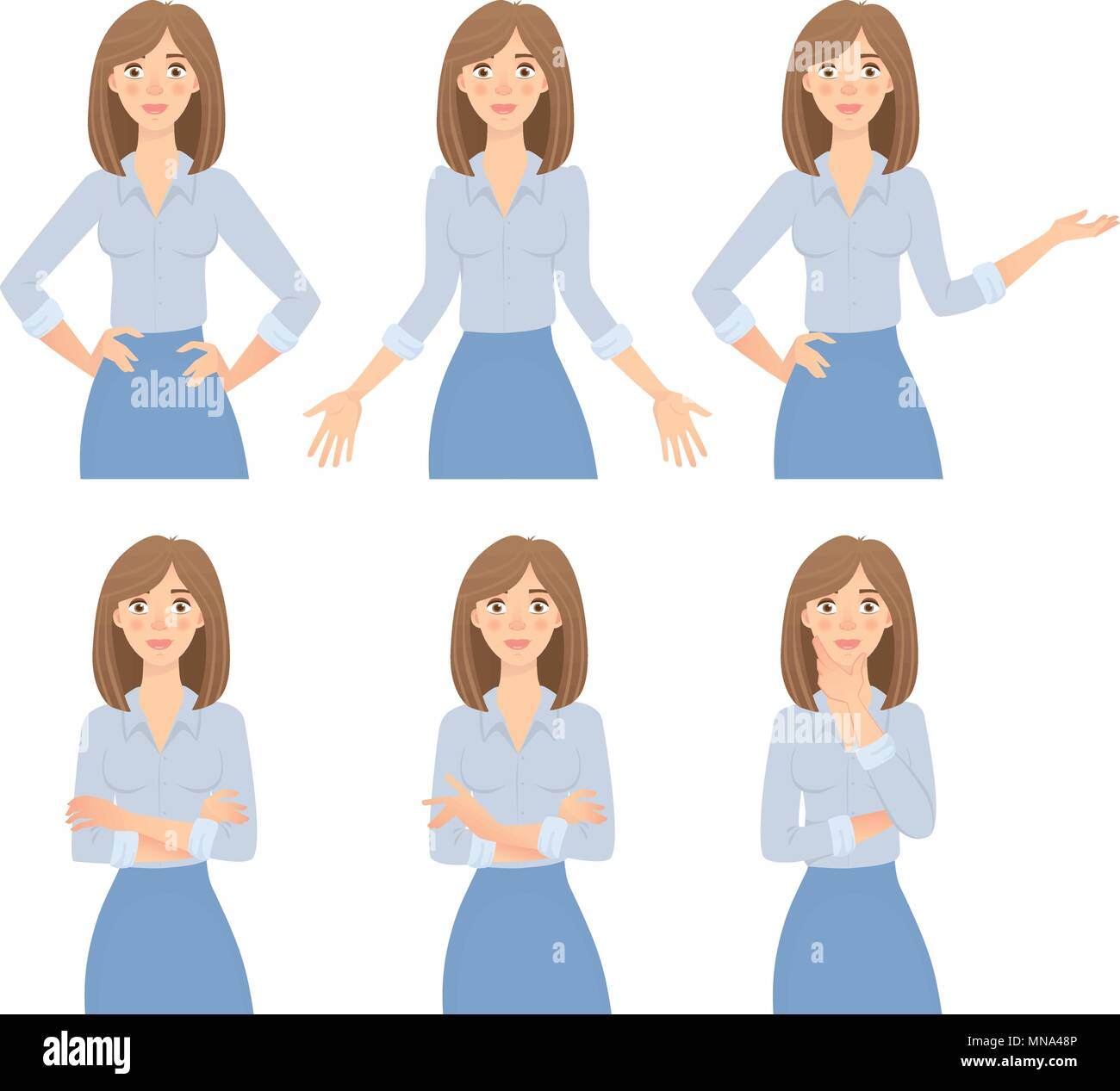 young business woman set - Stock Image