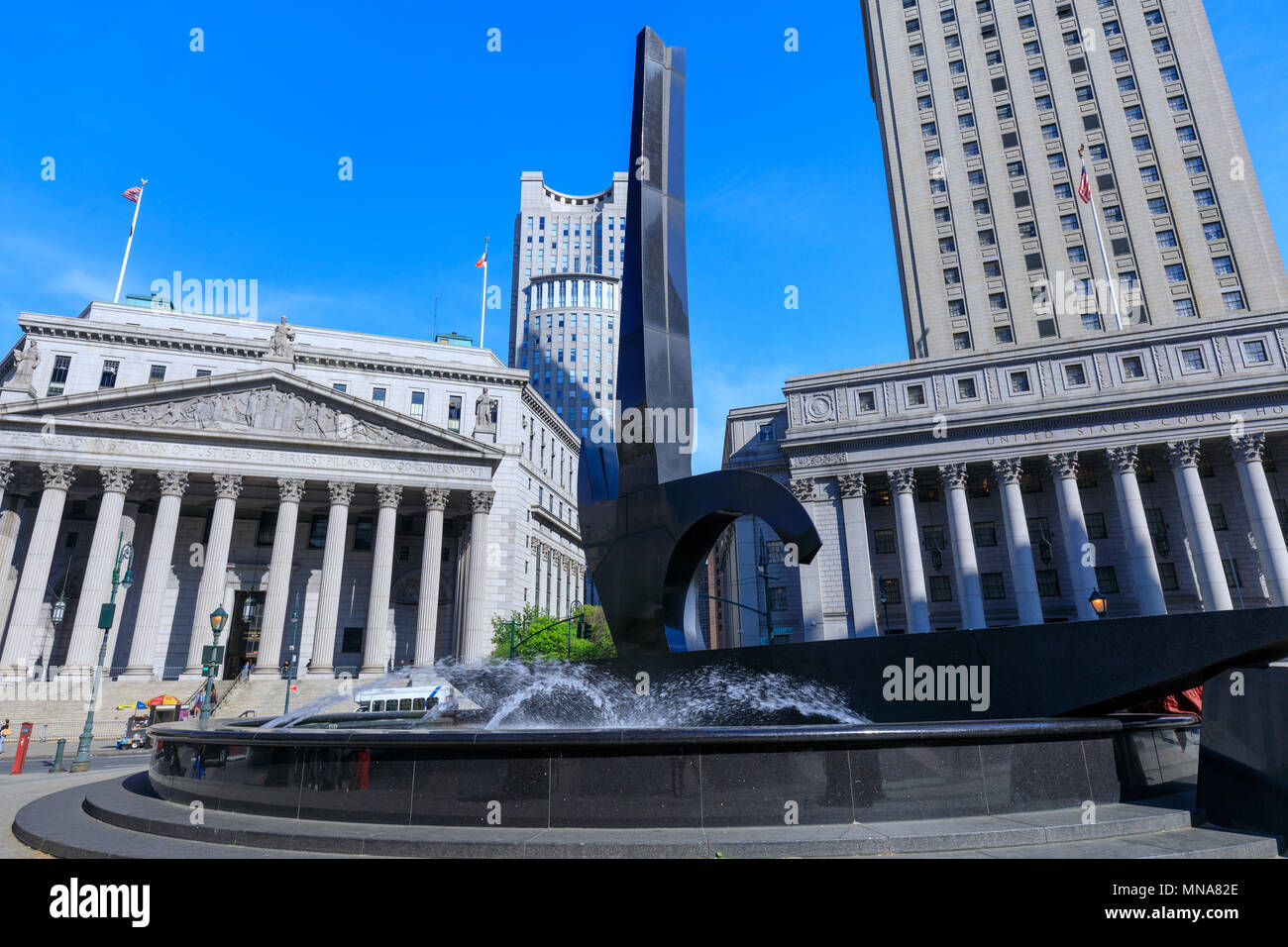 Manhattan, New York City - May 10, 2018 : New York State Supreme Court Building, originally known as New York County Courthouse, at 60 Centre Street o Stock Photo