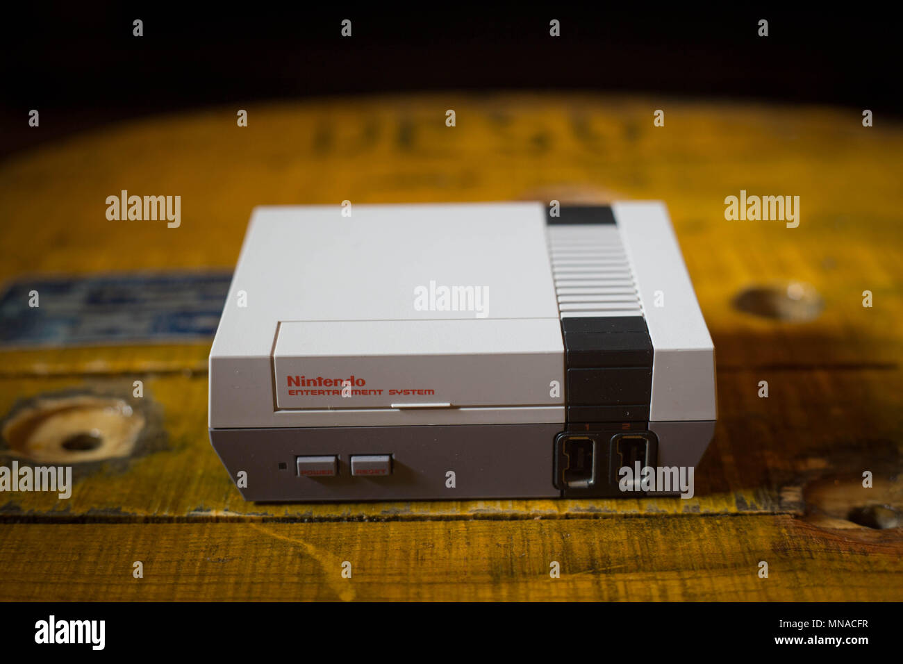 A Nintendo Classic Mini Nintendo Entertainment System Video Game