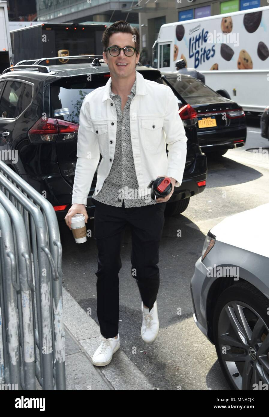 New York, NY, USA. 15th May, 2018. Matt Bomer appears on the Today Show to promote his Broadway play THE BOYS IN THE BAND out and about for Celebrity Candids - TUE, New York, NY May 15, 2018. Credit: Derek Storm/Everett Collection/Alamy Live News - Stock Image