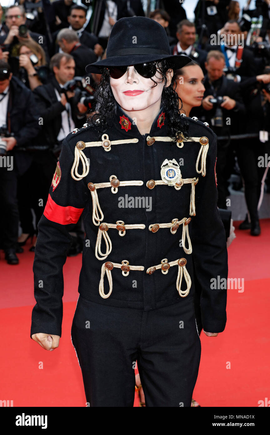 90f65b7da582 Michael Jackson Impersonator attending the  Solo  A Star Wars Story   premiere during the 71st Cannes Film Festival at the Palais des Festivals  on May 15
