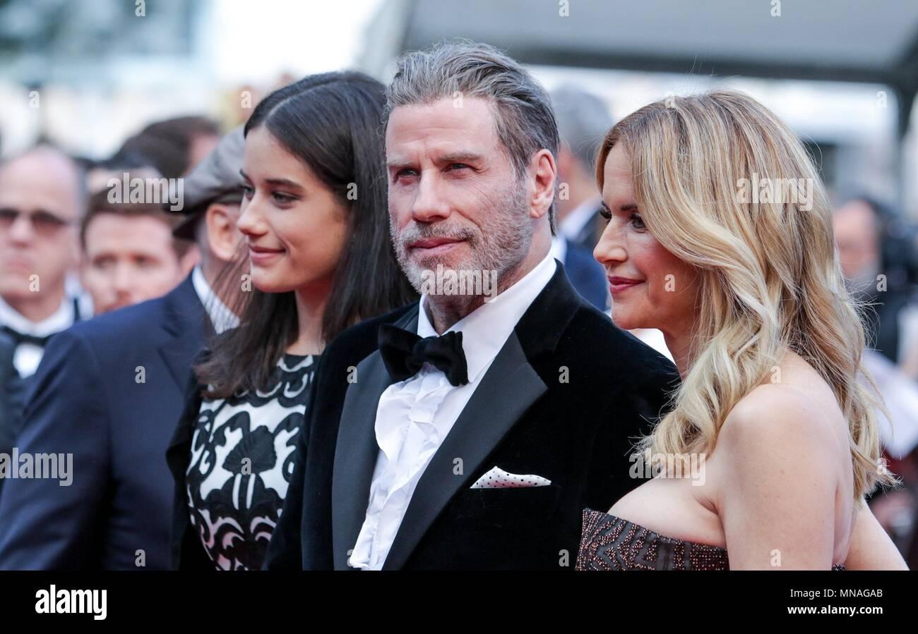 Cannes, France  15th may 2018  Ella Bleu Travolta, John