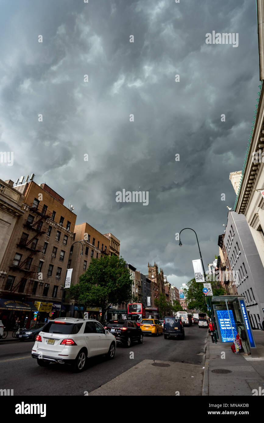New York, USA. May 15, 2017 - New York, USA:  A line of severe storms swept throug the New York area. Credit: Stefan K/Alamy Live News Stock Photo