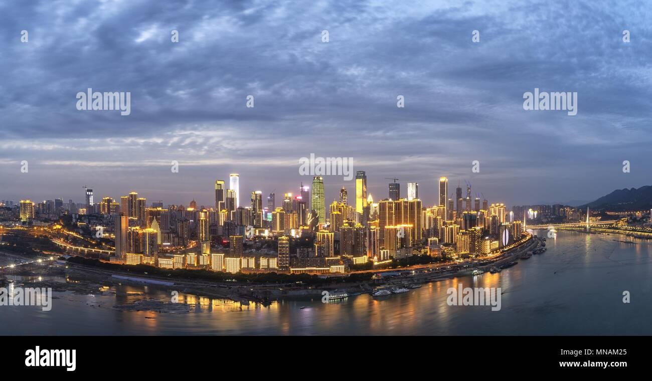 Chongqing, Chongqing, China. 15th May, 2018. Chongqing, CHINA-15th May 2018: Chongqing, formerly romanized as Chungking, is a major city in southwest China. Chongqing has a significant history and culture and serves as the economic centre of the upstream Yangtze basin. It is a major manufacturing centre and transportation hub; a July 2012 report by the Economist Intelligence Unit described it as one of China's ''30 emerging megacities' Credit: SIPA Asia/ZUMA Wire/Alamy Live News - Stock Image