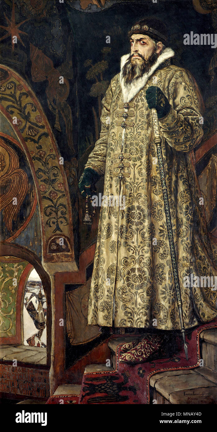 Ivan the Terrible, Portrait of Ivan IV by Viktor Vasnetsov, 1897 - Stock Image