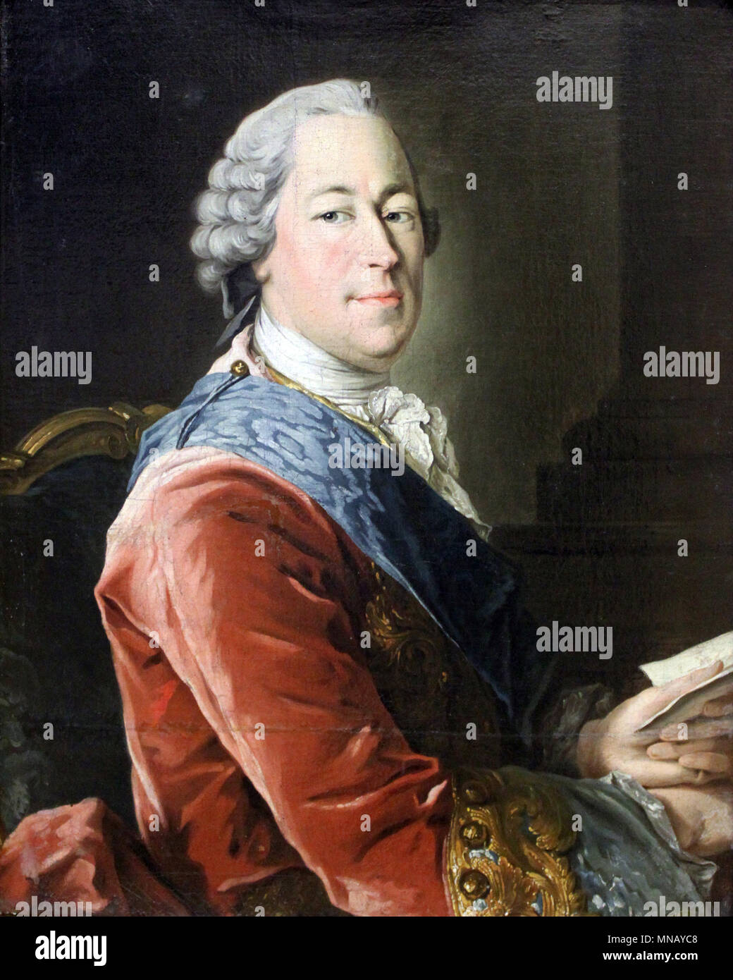 Count Mikhail Illarionovich Vorontsov (1714 – 1767) Russian statesman and diplomat - Stock Image