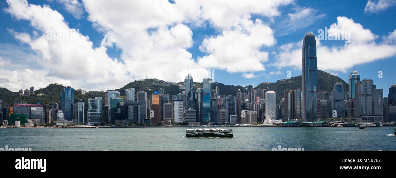 the Hong Kong Skyline - Stock Image