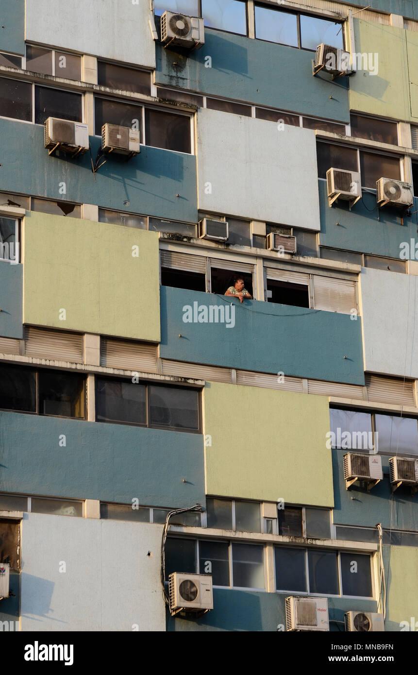ANGOLA Luanda, block building - Stock Image