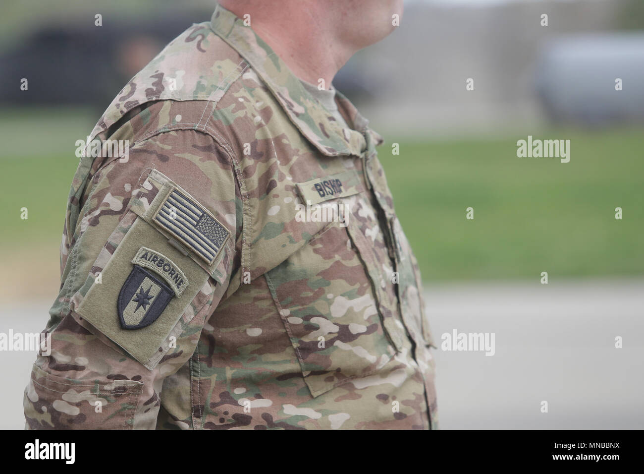 United States Air Force Symbol On A Us Soldier Uniform Stock Photo