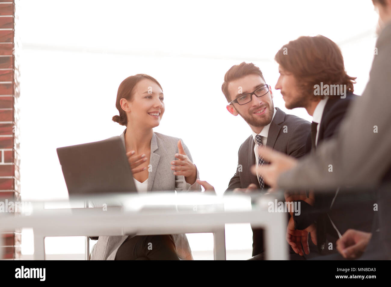 corporate meetings business group - Stock Image