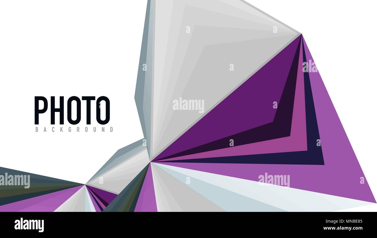 abstract white low poly background stock photos & abstract white low, Low Poly Business Presentation Template, Presentation templates