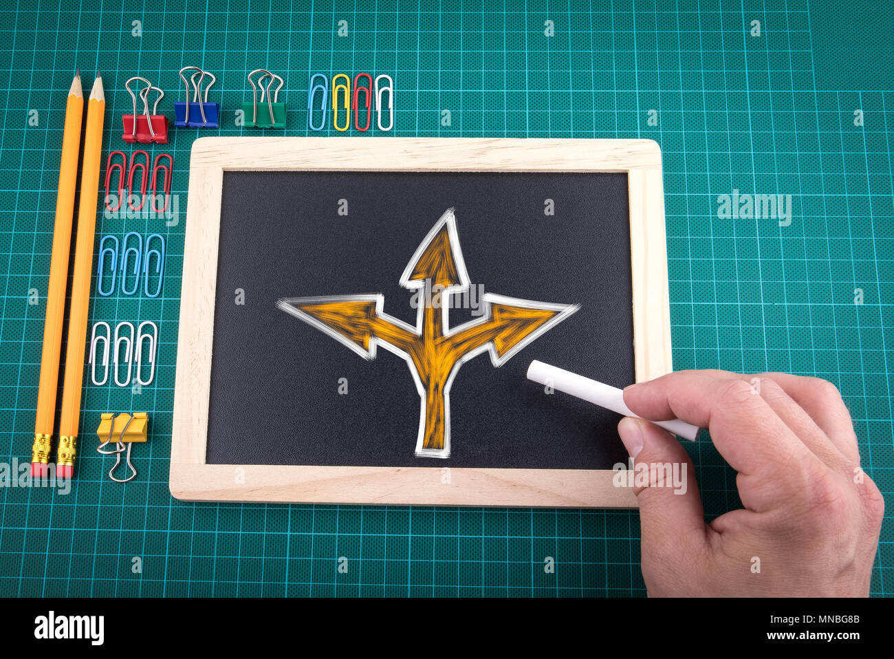 Different choices. Trend leader or leadership concept - Stock Image
