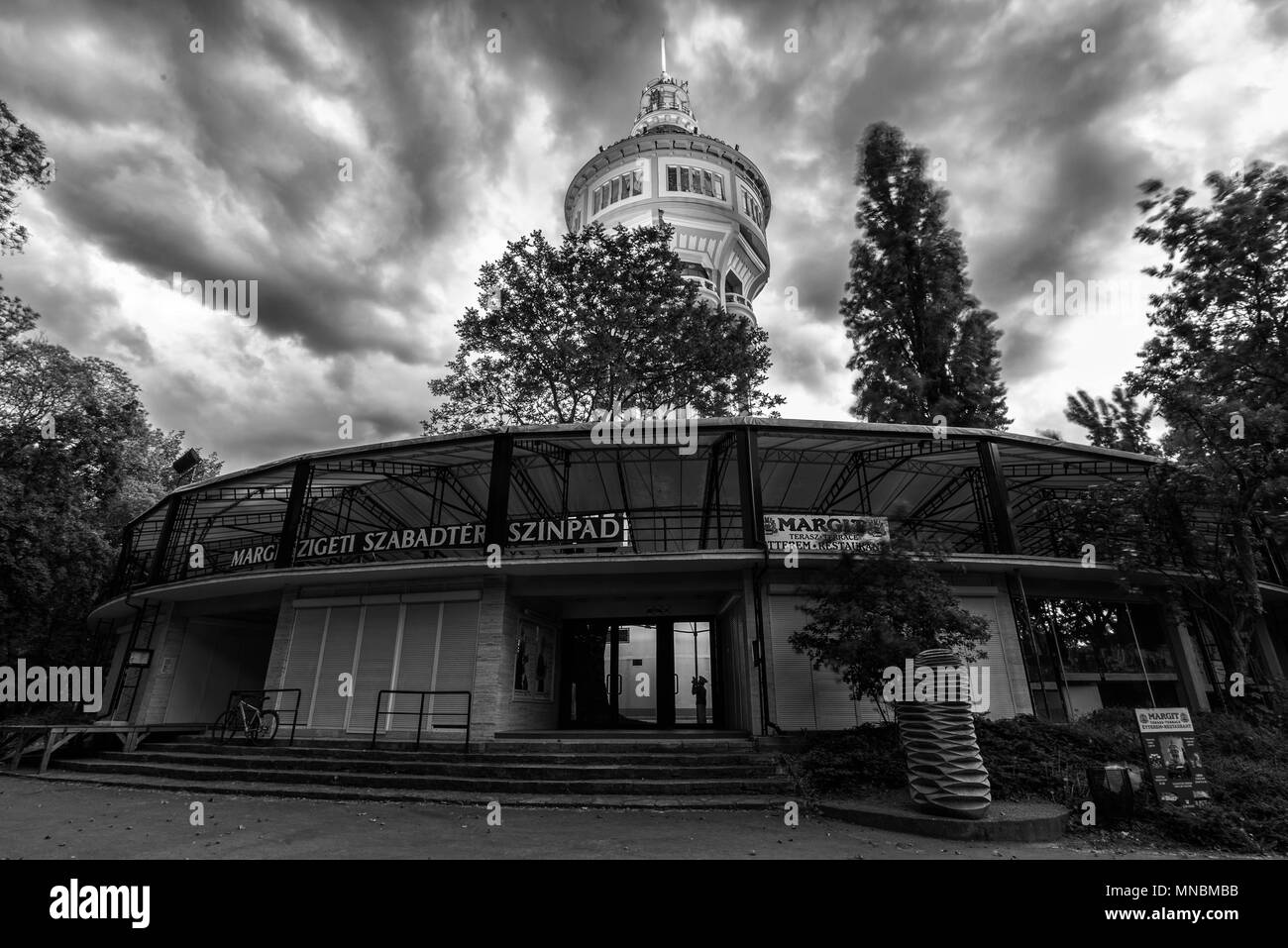 Water tower in Margaret Island, Budapest, Hungary - Stock Image