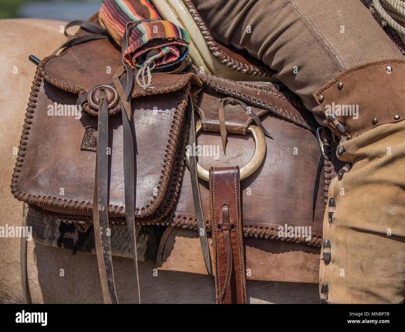 Traditional Cowboy Vaquero Saddle Rig Stock Photo: 185270383