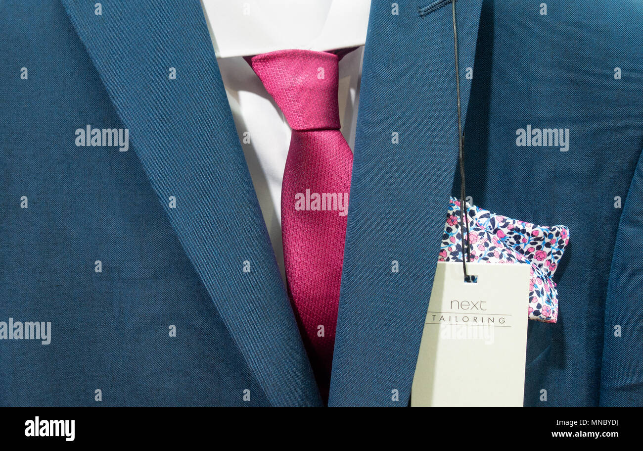Suit in Next store, UK - Stock Image
