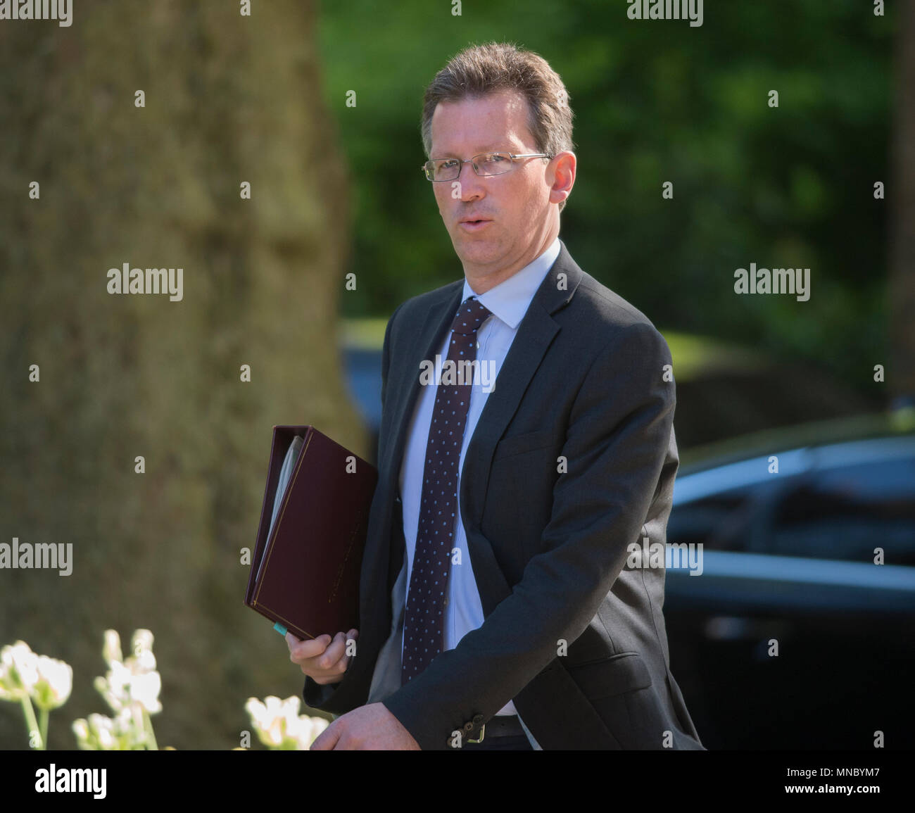London, UK. 15 May 2018. Jeremy Wright QC, Attorney General in Downing Street for weekly Cabinet meeting. - Stock Image