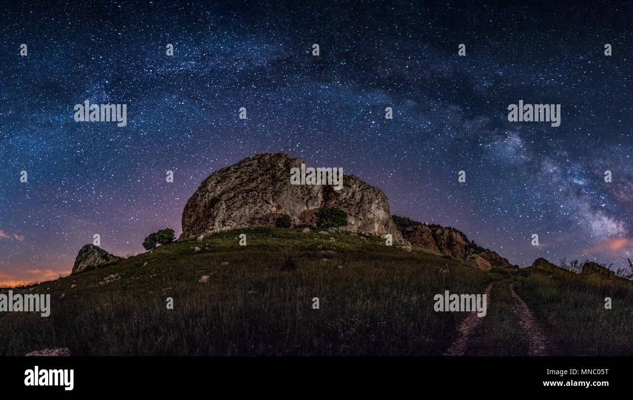 Milkyway. Nice night sky on a summer night - Stock Image