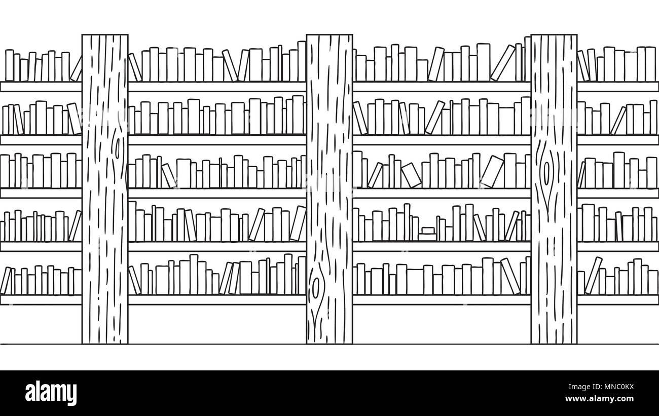 Desenho De Biblioteca Para Colorir: Stack Of School Books Vector Black And White Stock Photos