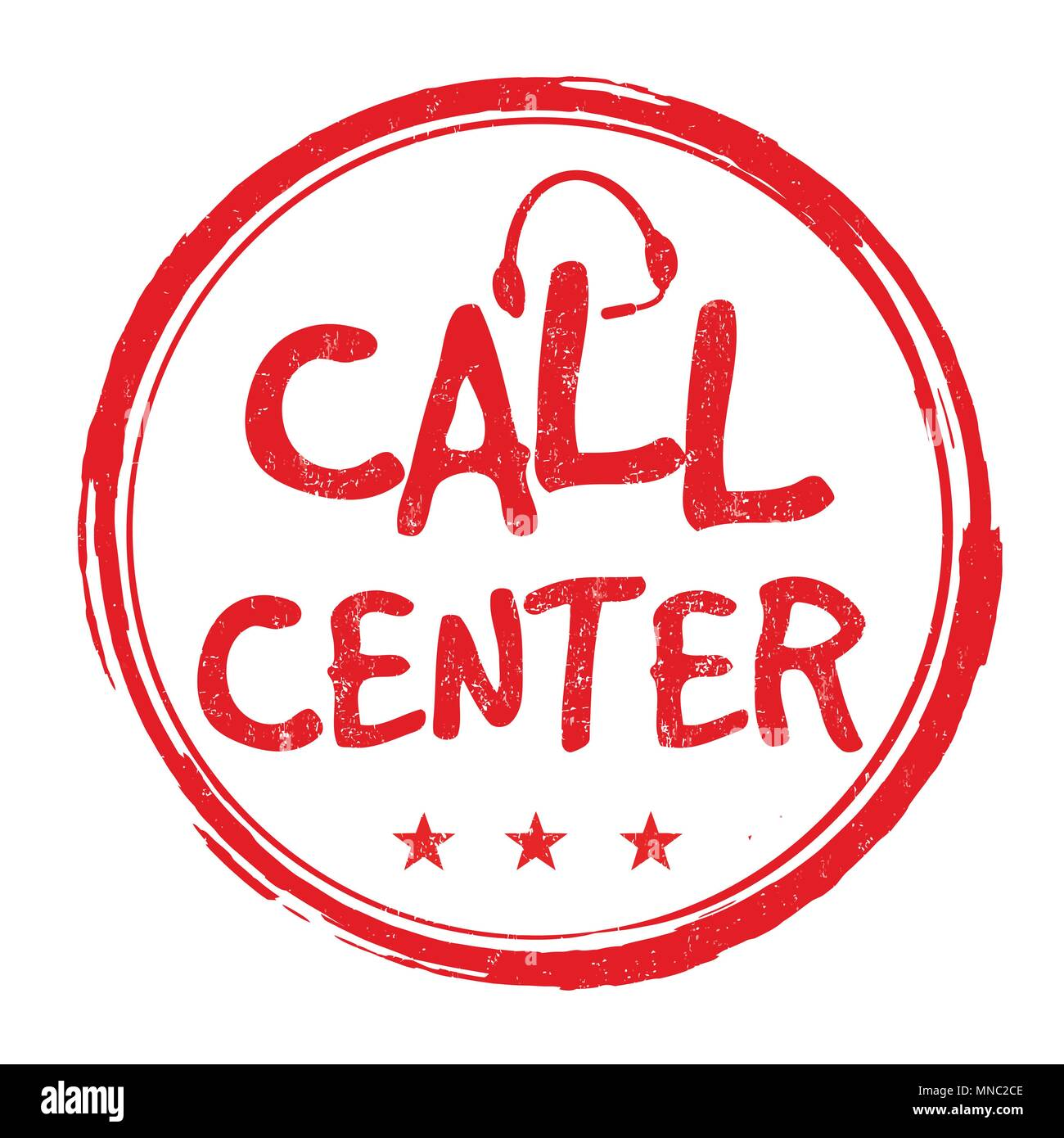 Call center grunge rubber stamp on white background, vector illustration Stock Vector