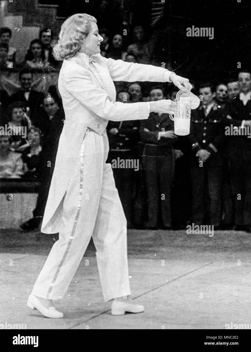 ingrid bergman, gala de l'union des artistes, paris 1957 - Stock Image