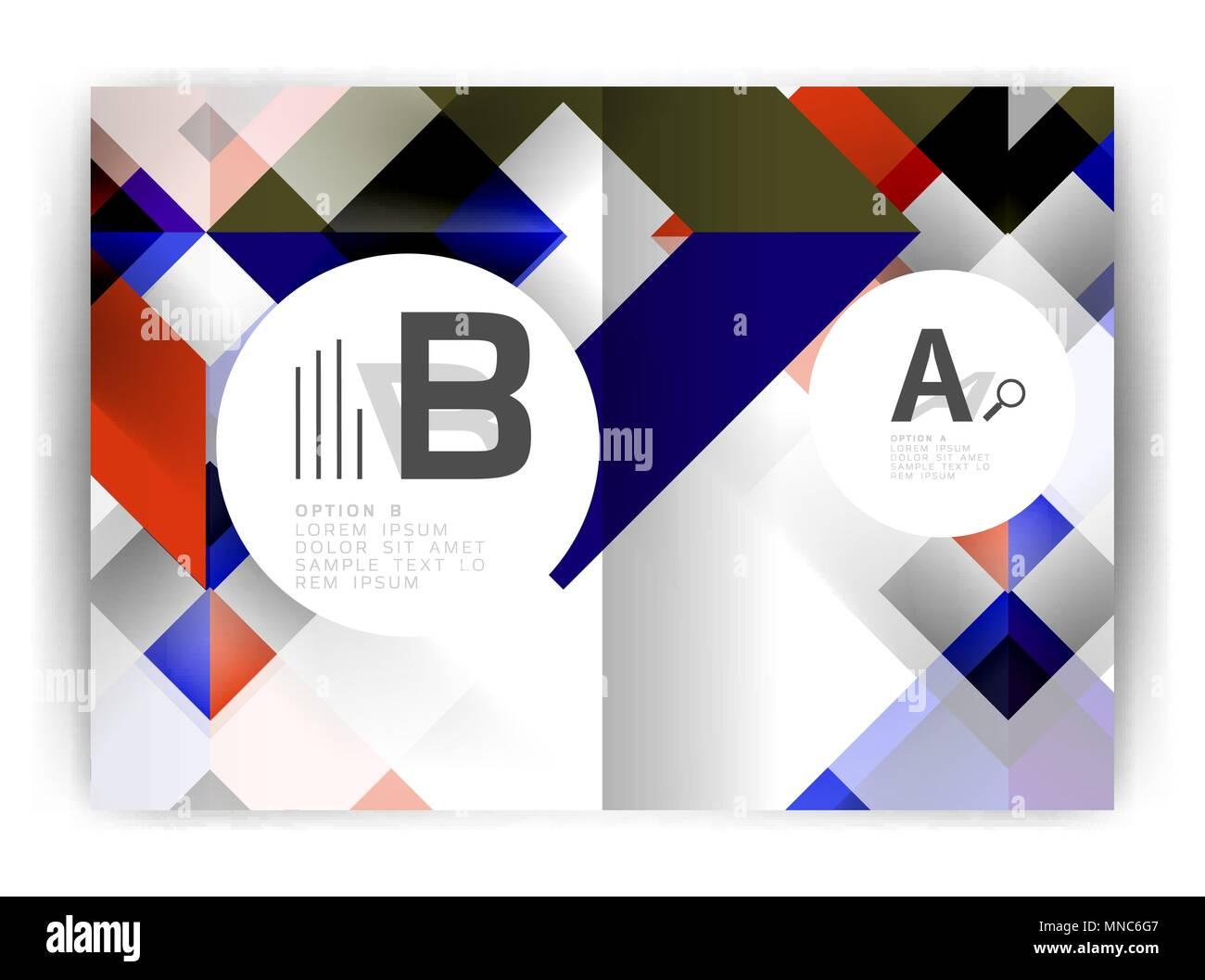 Geometric a4 annual report cover print template  Geometric a4 annual