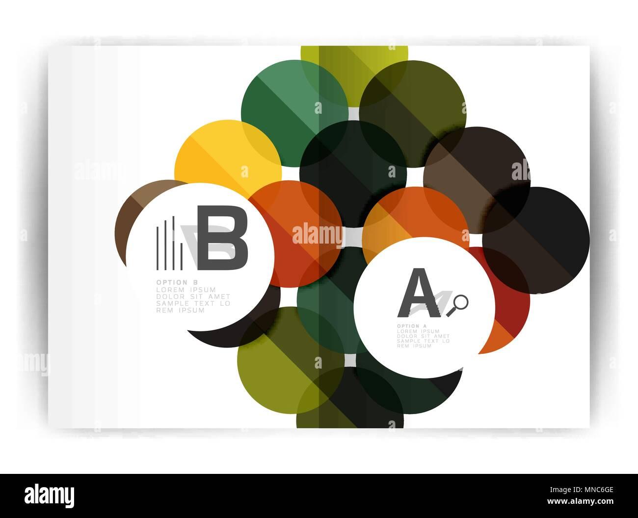 Geometric a4 annual report cover print template  Geometric