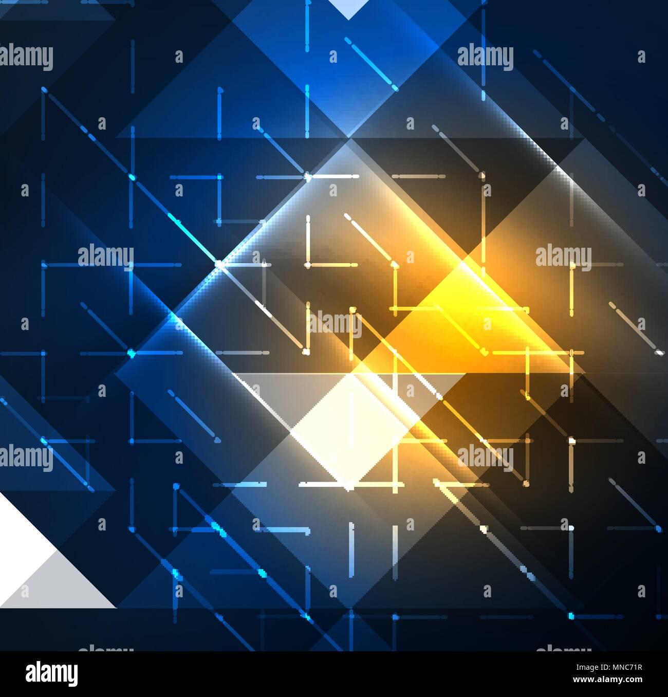 Cosmic Electric Background With Shiny Glowing Plexus